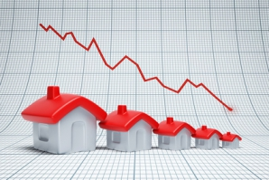 real estate are falling